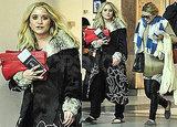 Уличный стиль знаменитости: сестры Олсен в аэропорту.